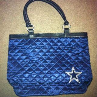 Large Littlearth Dallas Cowboys Blue Quilted Tote Shoulder Bag