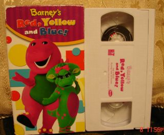 Barneys Red Yellow Blue VHS Video Primary Colors Educational Learning