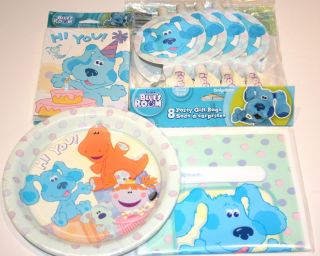 Blues Clues Birthday Party Supplies for 8 Guests