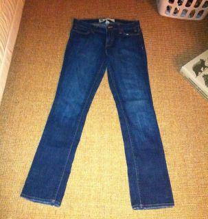 Gap Dark Denim Blue Skinny Stretch Jeans Size 4 Straight Leg