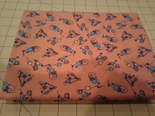 Blue Hill Toy Box II Orange Children Playing Cotton Quilt Fabric 1
