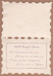 Vintage Valentine Greeting Card Bobby Cop Handcuffs Cupid