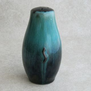 Blue Mountain Pottery Salt Shaker Original Stopper Green Drip Vintage