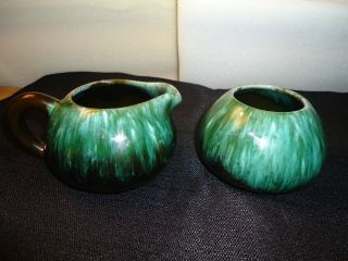 Blue Mountain Pottery Cream and Sugar Set