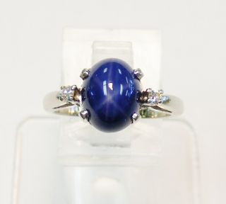 and weighs 3 7gms this beautiful blue star sapphire and diamond ring