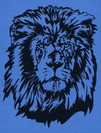 Vintage 80s Lion Head American Apparel Womens T Shirt