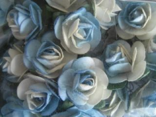 144 Blue Paper Rose Flower Wedding Party Favor Craft