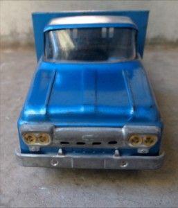 Vintage Tonka Toys Mound Minnisota Blue Flat Bed Truck Nice Streight