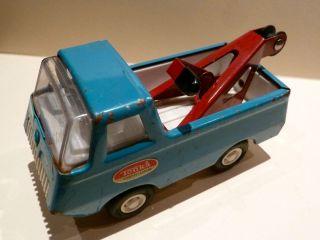 Vintage Tonka Mound Minn Tow Truck Wrecker Blue Metal 1970s Toronto