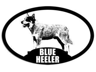 3x5 Oval Blue Heeler Sticker Decal Dog Breed Pet Animal Australian