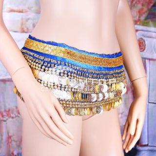 Gold Sequins Tribal Belly Dance Skirt Hip Waist Belt