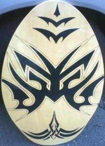 Skimboard Tribal Bat Frog Body Surfing Wave Water Boogie Skim Board