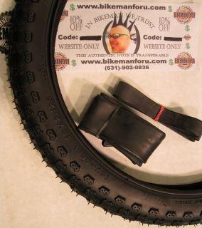 Bicycle 1 Tire Tube Rimstrip 18 x 2 125 BMX Bike Kenda K50 Knobby Park