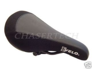 New Velo BMX Freestyle Bicycle Bike Saddle Seat Black Black