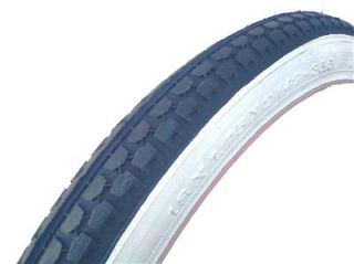 Pair Whitewall 18 x1.75 BMX Bicycle Tires black/ white wall bike tire
