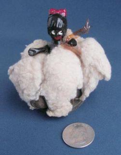 Black Americana Bisque Baby Doll Cotton Boll Southern Souvenir