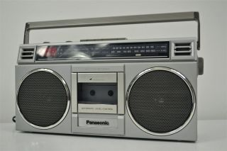 Panasonic Boombox AM FM Radio Cassette Deck Tape Player Recorder RX