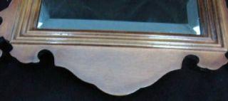 Vintage Walnut Beveled Glass Mirror Bombay Company