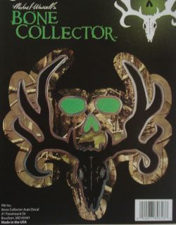 Bone Collector ~ COLORED CAMO ~ Logo WINDOW DECAL TRUCK AUTO