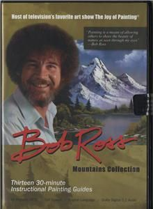 BOB ROSS JOY OF PAINTING MOUNTAINS 6 & 1/2 hrs SET OF 3 DVDS WITH 13