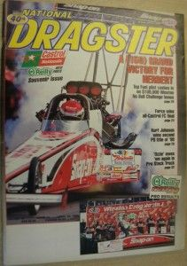1999 National Dragster Bob Creitz Kurt Johnson John Force Doug Herbert