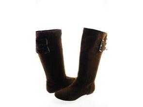 Material Girl Brown Bonita Boots Size 7.5 New