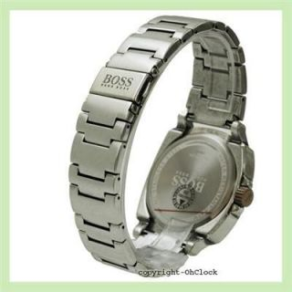 Hugo Boss Mens Stainless Steel Bracelet Watch Antique Style Black