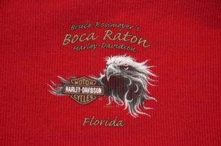 Womens Boca Raton Harley Davidson Snap Front Mock Neck Long Sleeve