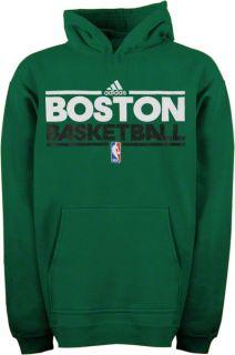 Boston Celtics NBA Practice Hooded Sweatshirt Green