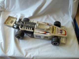 A0818 Jim Beam 1975 Bobby Unser 48 Olsonite Race Car Whiskey Decanter