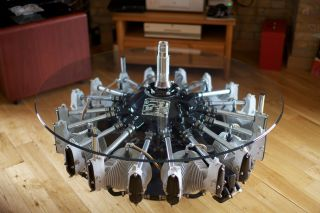 Aircraft Radial Engine Coffee Table Lycoming Boeing Rolls Royce