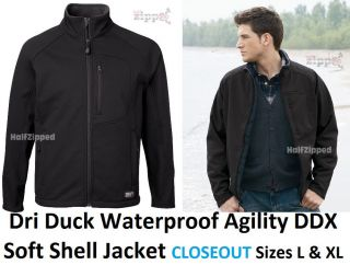 Dri Duck Waterproof Agility DDX Soft Shell Jacket 5347 L XL CLOSEOUT