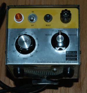 Bodine BSH 200 DC Motor Speed Control