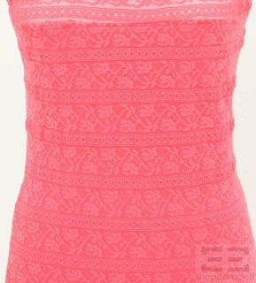 Hot Pink Lace Bodycon Dress Size 6 NEW