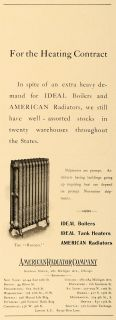 1904 Ad American Radiators Ideal Boilers Home Heating