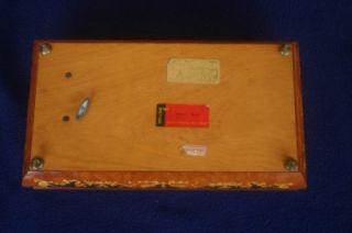 Early San Francisco Music Box Inlaid Wood Bolero Italy