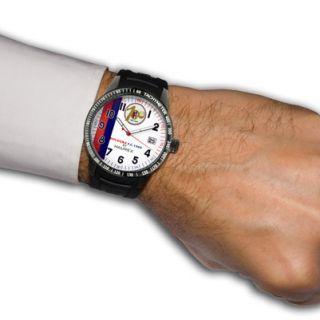 Haurex Mens Red Arrow Stainless Steel Watch Style BC300UW2 Brand New