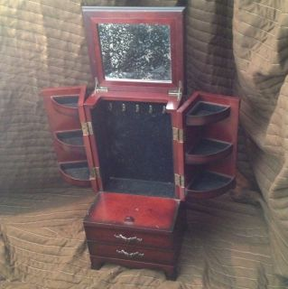 The Bombay Furniture Company Inc Vanity Jewlery Box Cherry Wood