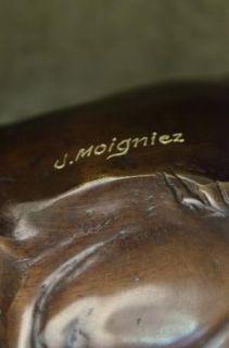 French Bronze & Marble Sculpture Bonheur Paris Figural Victorian Lion