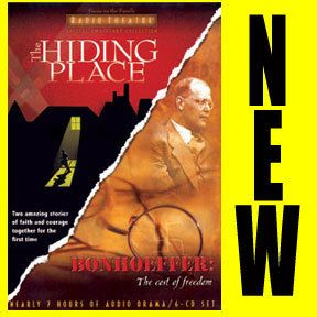 NEW The Hiding Place Bonhoeffer: Cost of Freedom Audio CD Set Radio