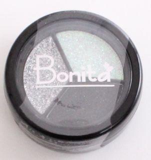 BONITA EYESHADOW 3 SHADES CREAMY GLITTER BLACK WHITE SILVER SEALED