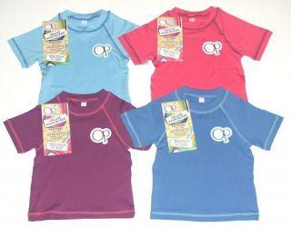 New Boys Op Rash Guard UPF 50 Swim Shirt Top Blue