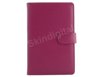 For Nook Tablet / Nook Color Hot Pink Leather Case Cover Jacket