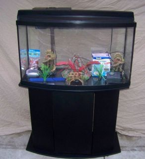 New 42 gallon bow front aquarium with stand lla1 for Bow fish tank