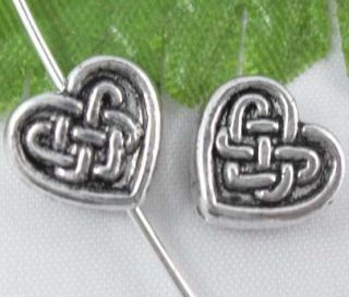 Free SHIP 350pcs Tibetan Silver Heart Spacer Beads 6mm