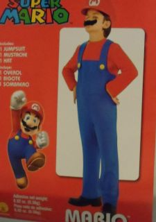 SUPER MARIO COSTUME BOYS SIZE 6 NEW IN PACKGE