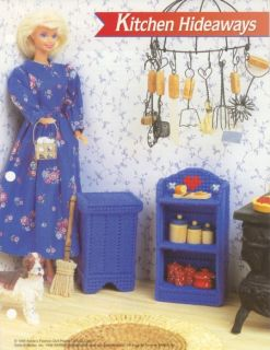 Hideaways for Barbie Annies Attic Plastic Canvas Pattern Leaflet