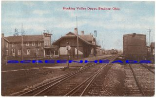 10 Hocking Valley Railroad Depot Bradner Ohio Postcard