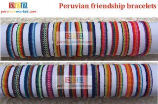 250 PERUVIAN FRIENDSHIP BRACELETS WOVEN MULTICOLOR MADE IN PERU