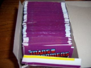 RARE UNOPENED TRANSFORMERS STICKERS PACK FROM BOX ITALY BORBA